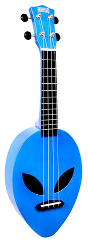 Mahalo Creative Series Alien Ukulele - Green & Blue