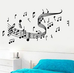 Music Swirl Wall Sticker - Canada
