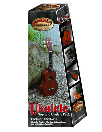 Makala MK-S Soprano Ukulele Pack with Bag and Tuner