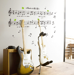 Music Is My Life Wall Sticker - Canada