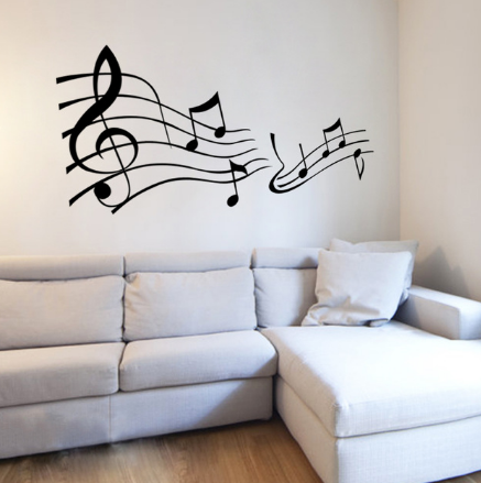 Music Stave Swirl Wall Sticker - Canada