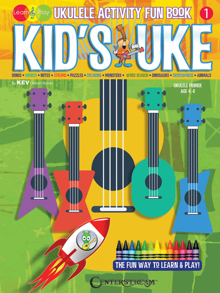 Kid's Uke - Ukulele Activity Fun Book