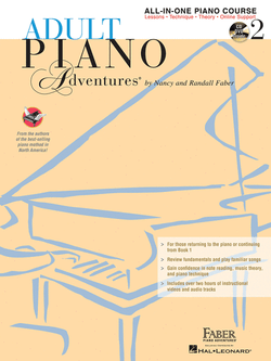 Adult Piano Adventures - All-In-One Lesson Book, Level 2 (w/CD)