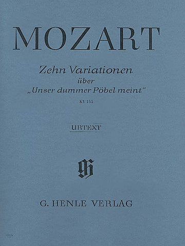 Mozart - 10 Variations on Unser Dummer P (Piano Solo) - Canada