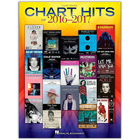 Chart Hits of 2016-2017 Easy Piano