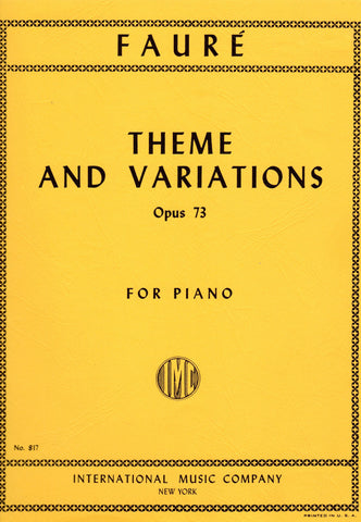 Faure - Theme & Variations, Opus 73 (Piano Solo) - Canada