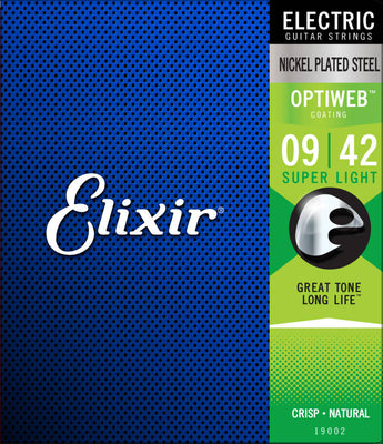 Electric Guitar Strings with OPTIWEB Coating, Super Light & Light