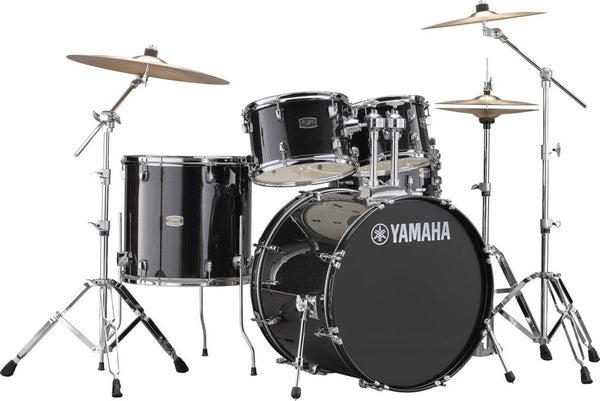 Yamaha Rydeen 5-Pc Drum Kit w/Hardware - Black Glitter
