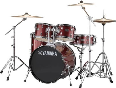 Yamaha Rydeen 5-Pc Drum Set w/Hardware - Burgundy Glitter
