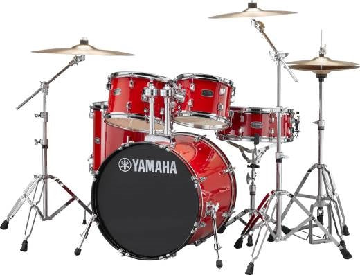 Yamaha Rydeen 5-Pc Drum Set w/Hardware - Hot Red