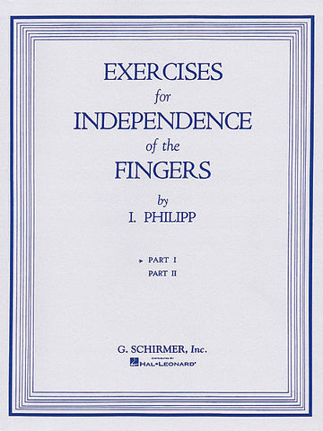 Isidor Phillip - Exercises for Independence of Fingers, Book 1 - Canada