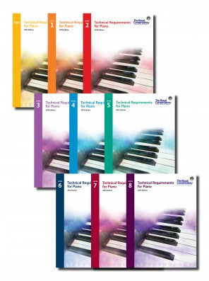 Complete 9-Book Technical Requirements for Piano Set - Canada