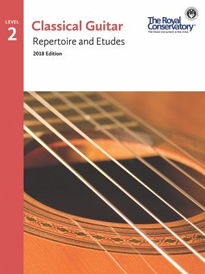 RCM  Guitar Repertoire and Etudes 2 - 2018 Edition