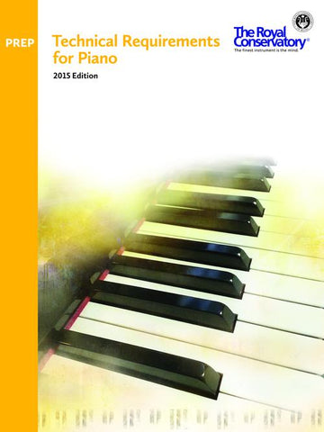 RCM Technical Requirements for Piano - Preparatory Level