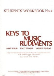 Keys to Music Rudiments - Students' Workbook No. 4 - Canada