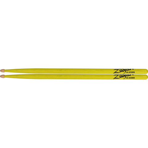 Zildjian 5A Acorn Neon Yellow Wood Tip Drumsticks