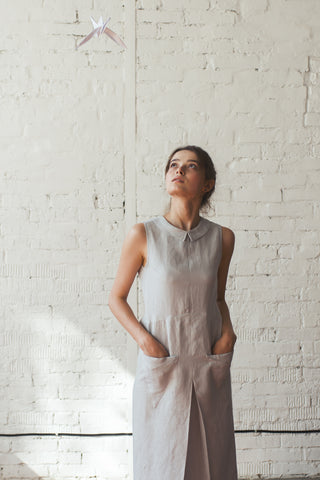 Jupiter Linen Dress | Cerulean Blue