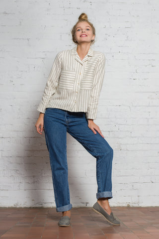 Stripy Linen Shirt