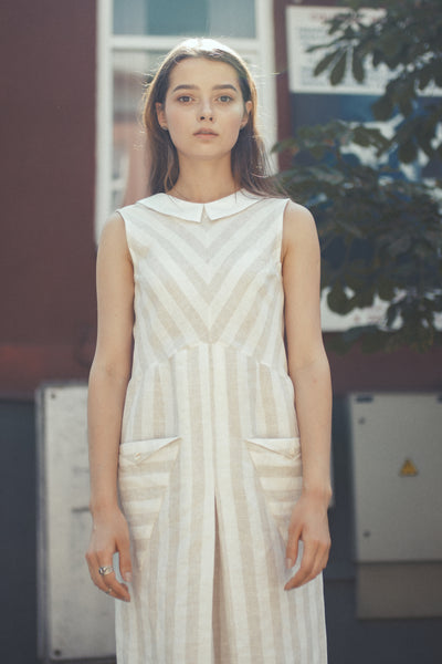 Stripy Jupiter Linen Dress
