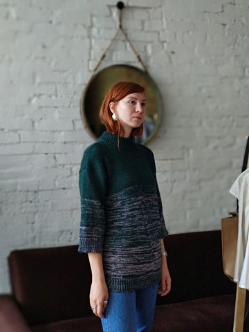 Oversized Chunky Wool Sweater | Green