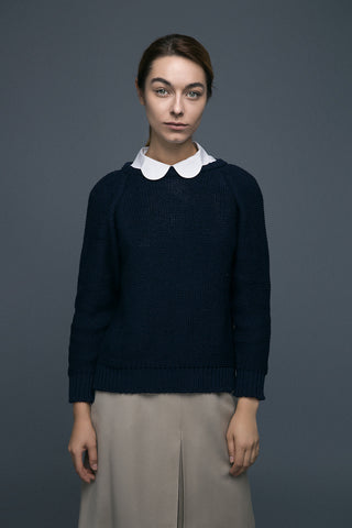 Wool sweater | Midnight Blue