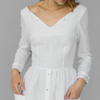 Venus Linen Dress | Pure White