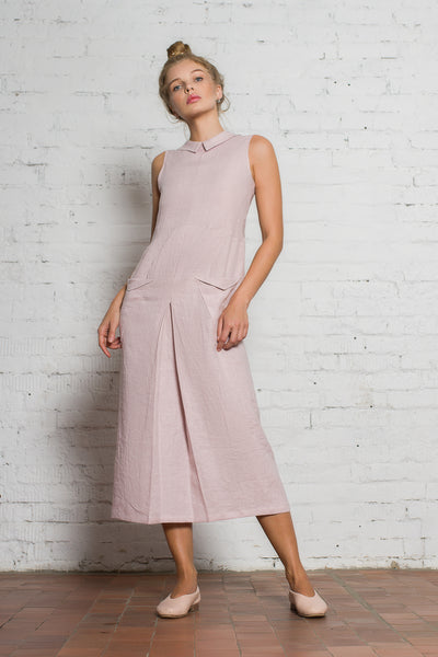 Jupiter Linen Dress | Dusty Pink