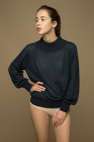 Oxford Blue Mohair Sweater