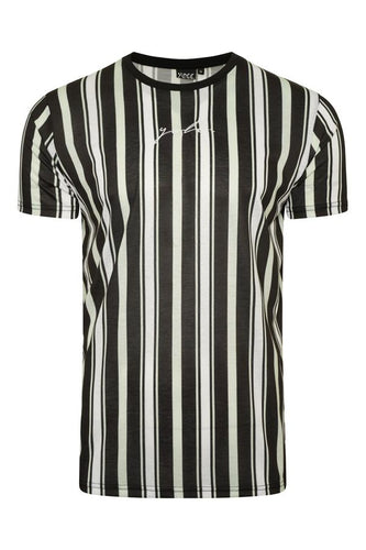 Signature Stripe T-Shirt Mint Black