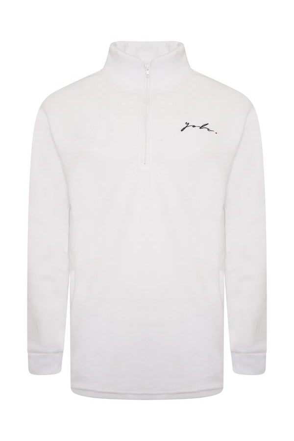 Signature Polar Fleece White