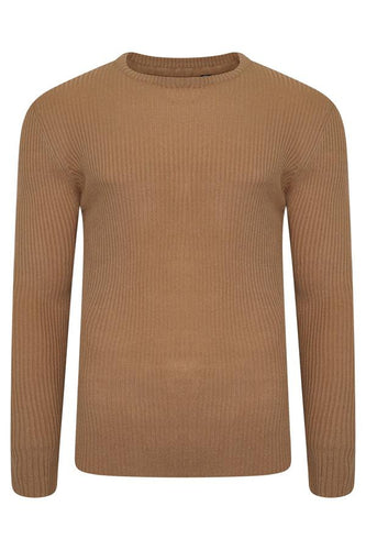 Muscle Fit Knit Tan