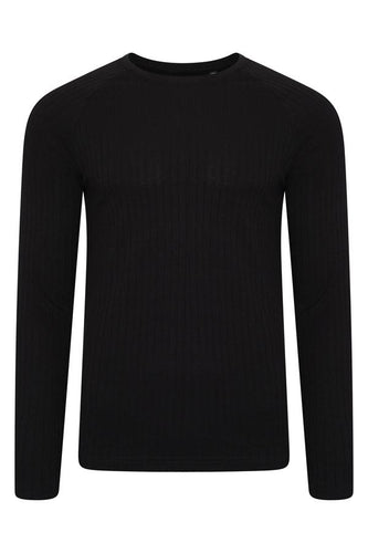 Crew Ribbed Knit Black