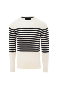 Stripe Knit White