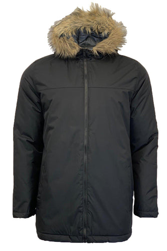 Fur Hood Parka Black