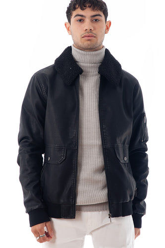 Leather Style Pilot Jacket