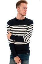 Load image into Gallery viewer, Stripe Knit Navy