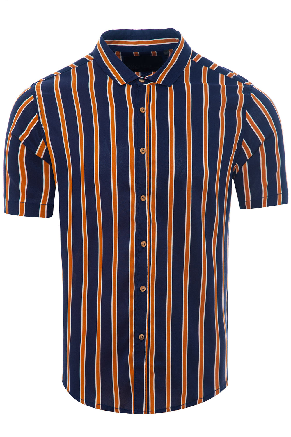 Soft Feel Thin Stripe Shirt Navy