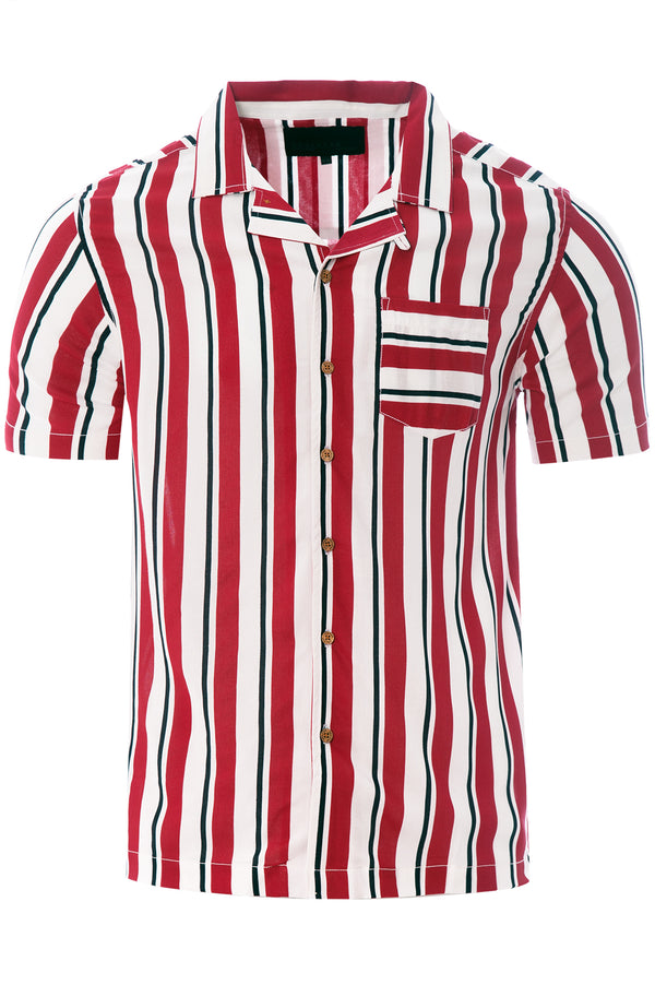 Soft Feel Holiday Shirt Red/ White