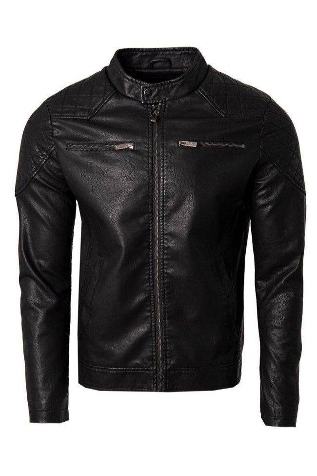 Leather Style Biker Jacket