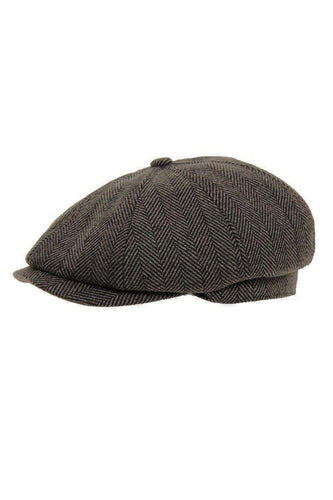 CAPS - Shelby Newsboy Cap Charcoal