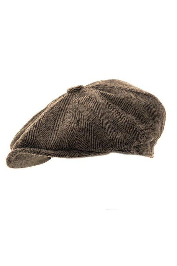 CAPS - Shelby Newsboy Cap Lt Brown