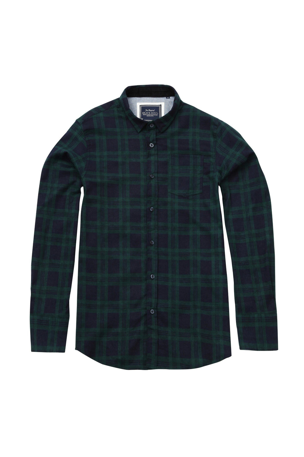 Check Shirt Navy/ Green