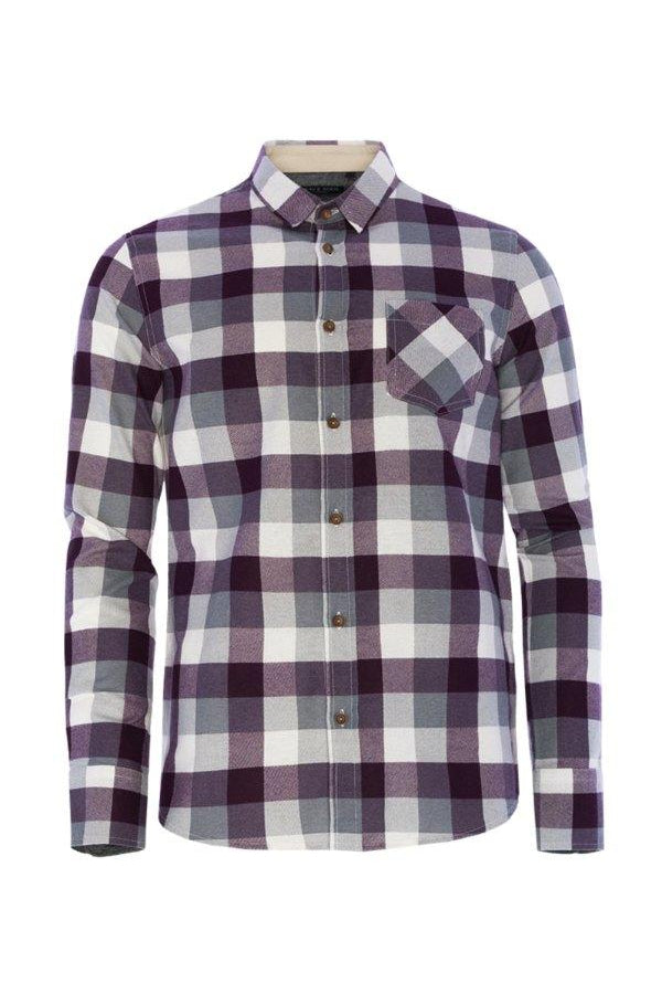 Check Shirt Plum
