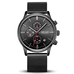 Chrono Mesh Watch Black