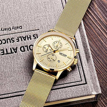 Load image into Gallery viewer, Chrono Mesh Watch Gold