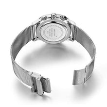Load image into Gallery viewer, Chrono Mesh Watch Silver
