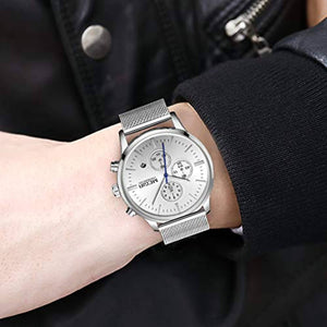 Chrono Mesh Watch Silver