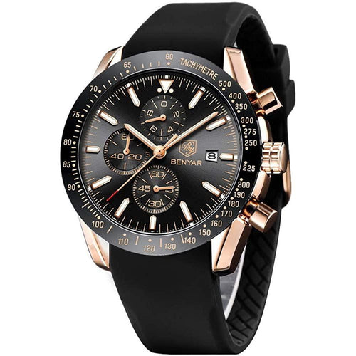 Daytona Watch Black Rose Gold