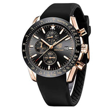Load image into Gallery viewer, Daytona Watch Black Rose Gold