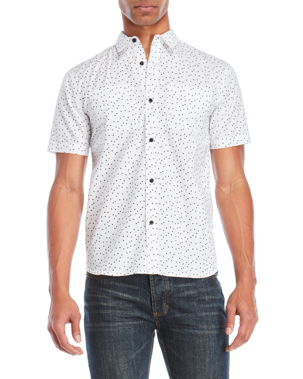 Dots Short Sleeve Shirt White